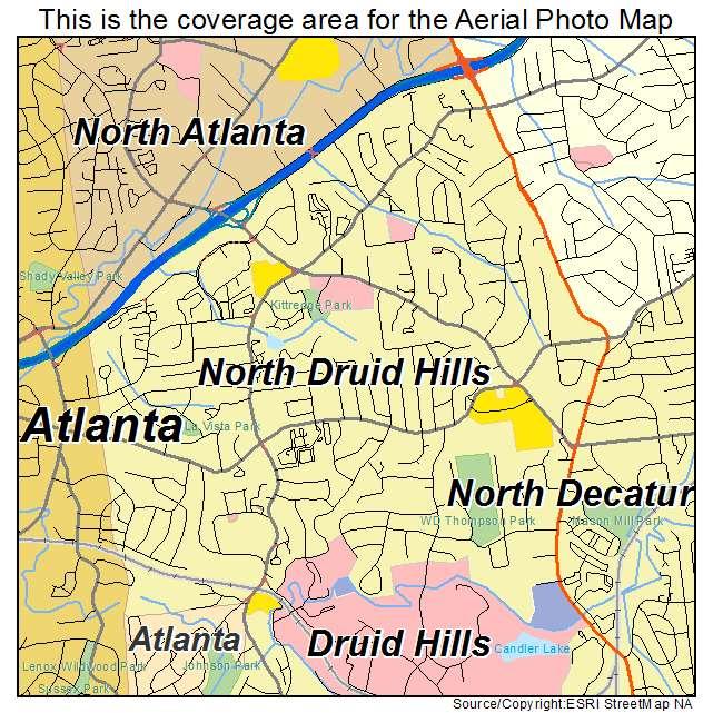 North Druid Hills, GA location map