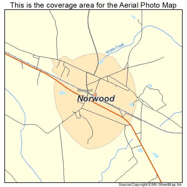 Norwood, GA location map