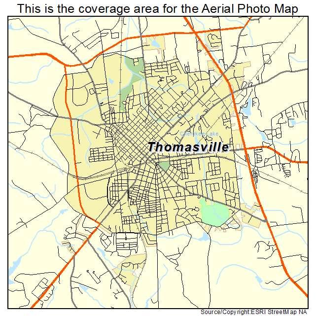 Thomasville Georgia Map.Aerial Photography Map Of Thomasville Ga Georgia