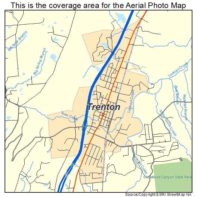 Aerial Photography Map of Trenton GA Georgia