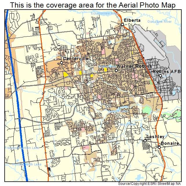 Warner Robbins Georgia Map.Aerial Photography Map Of Warner Robins Ga Georgia