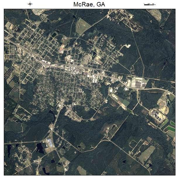 Aerial Photography Map Of Mcrae Ga Georgia