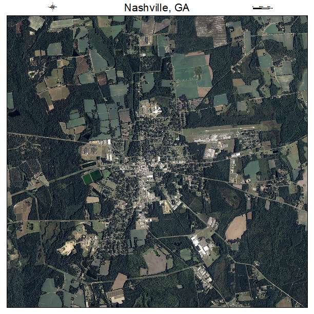 Nashville, GA air photo map