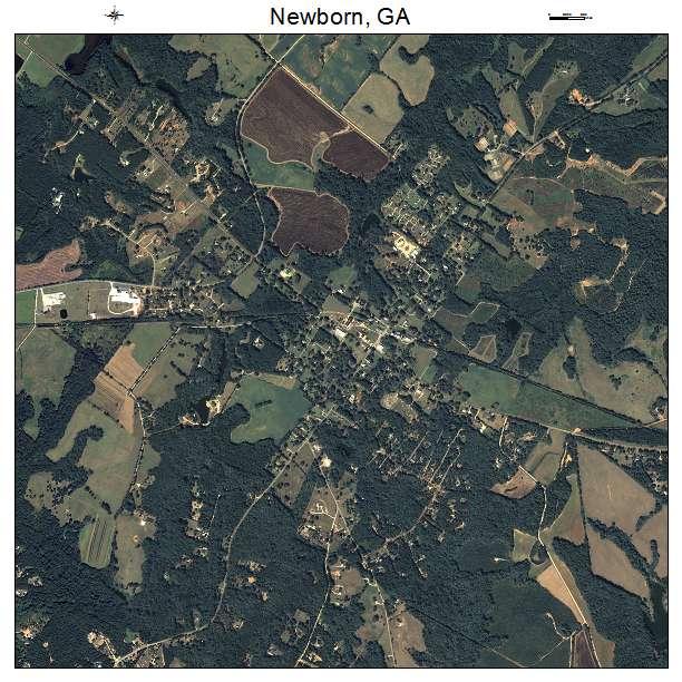 Newborn, GA air photo map