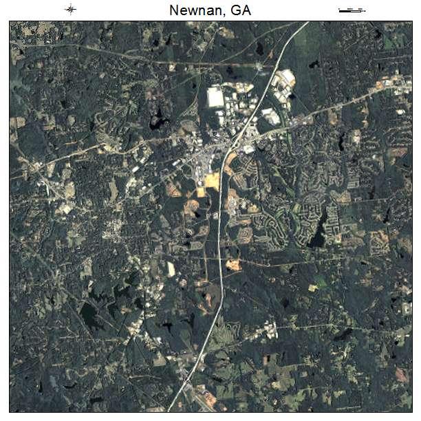 Newnan, GA air photo map