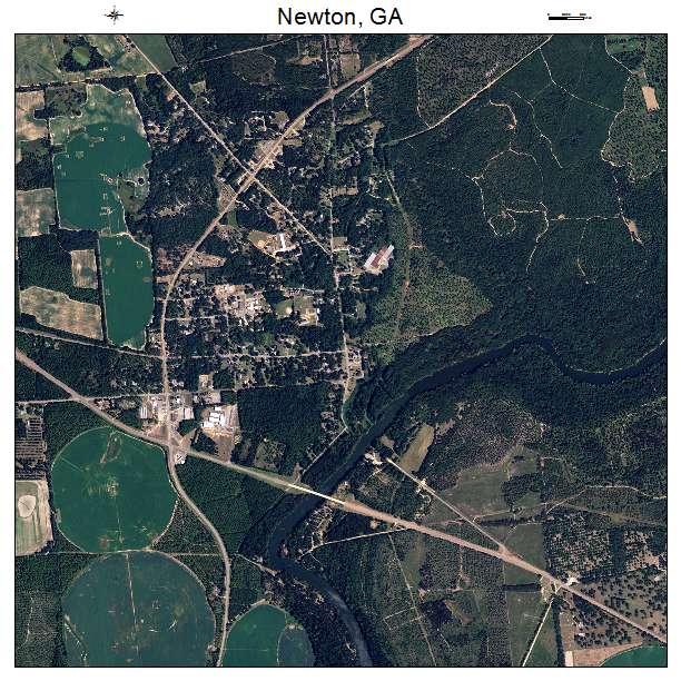Newton, GA air photo map