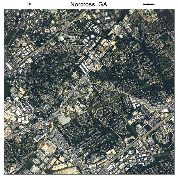 Norcross, GA air photo map