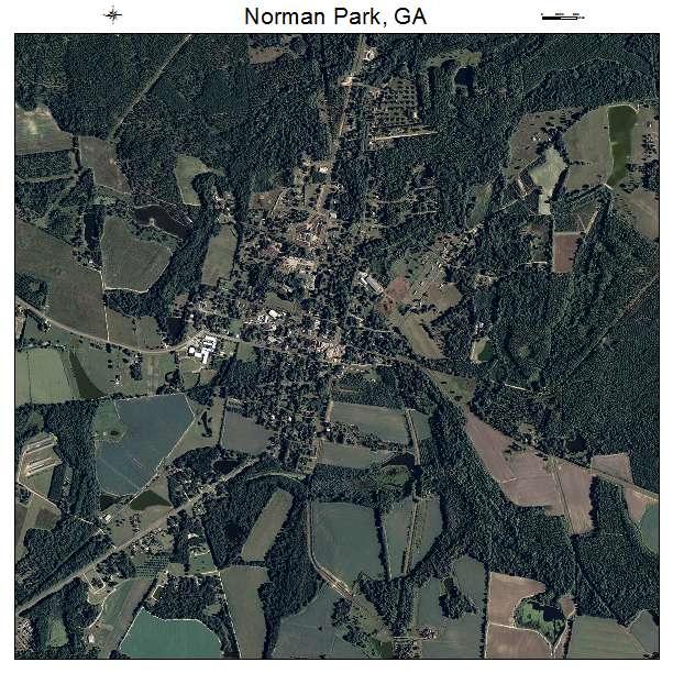 Norman Park, GA air photo map