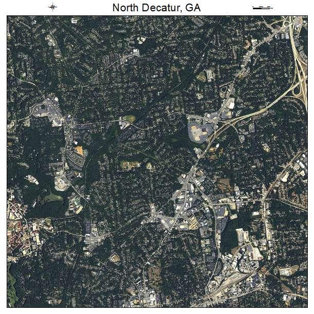 North Decatur, GA air photo map