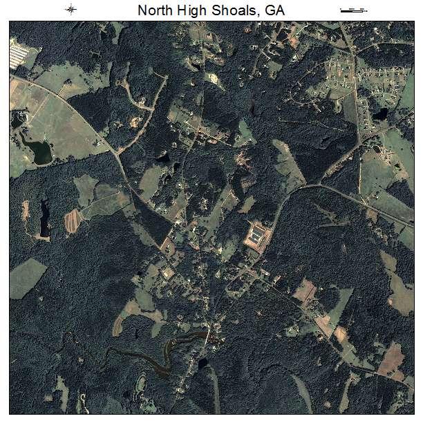 North High Shoals, GA air photo map