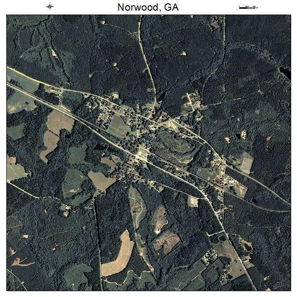 Norwood, GA air photo map
