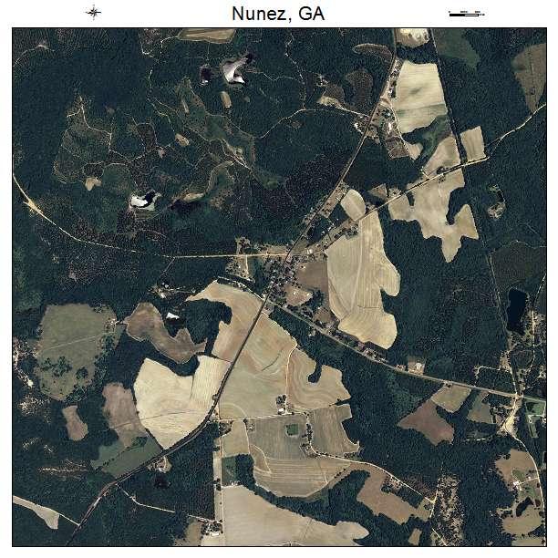 Nunez, GA air photo map