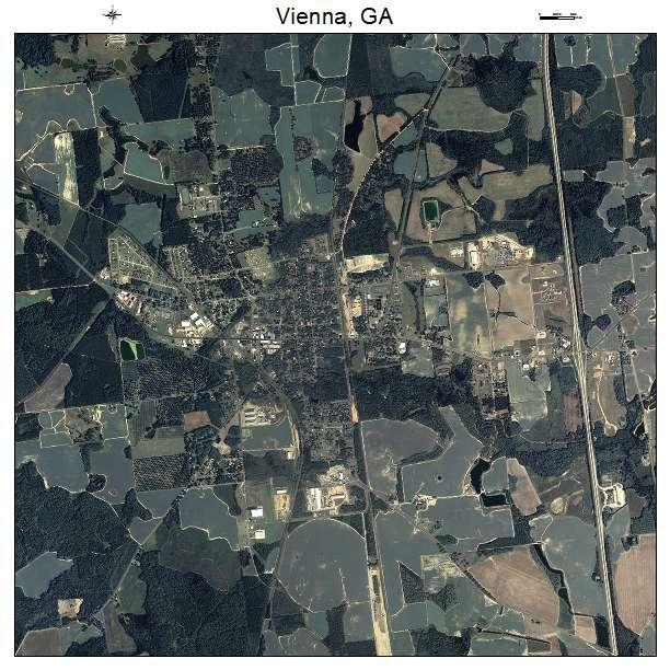 Map Of Vienna Georgia.Vienna Ga Georgia Aerial Photography Map 2015