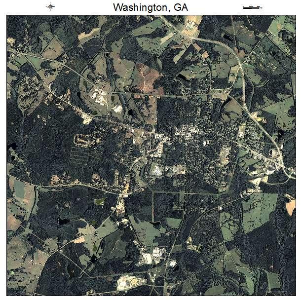 Washington Georgia Map.Aerial Photography Map Of Washington Ga Georgia
