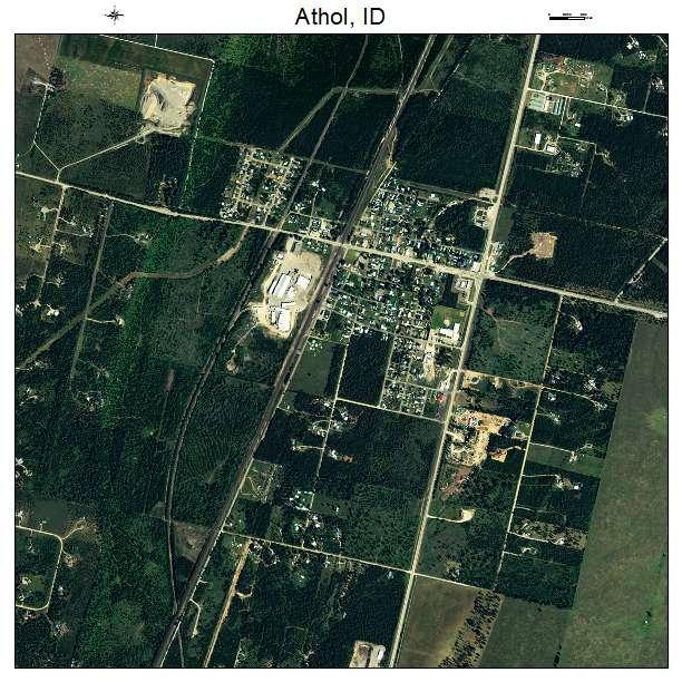 Aerial Photography Map Of Athol Id Idaho