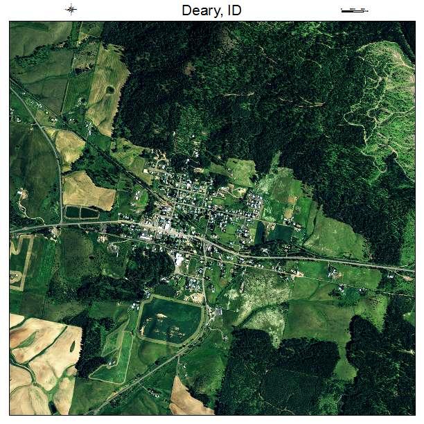 Aerial Photography Map of Deary, ID Idaho