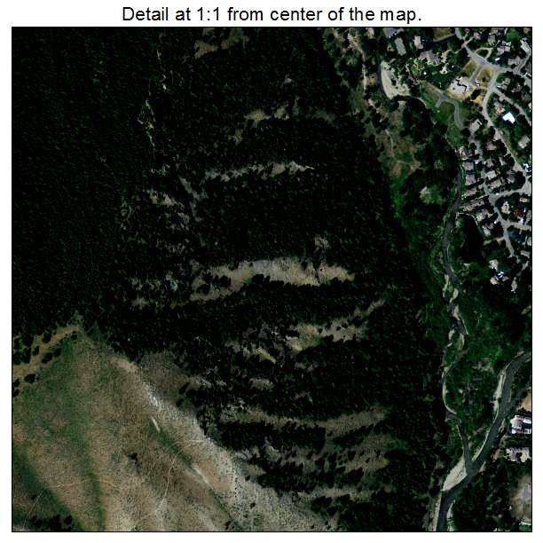 Ketchum, Idaho aerial imagery detail