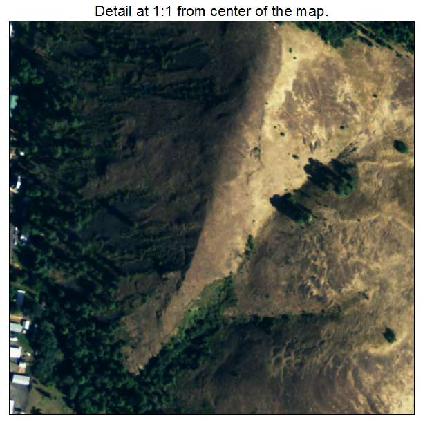 Kooskia, Idaho aerial imagery detail