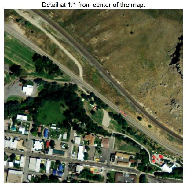 Lava Hot Springs, Idaho aerial imagery detail