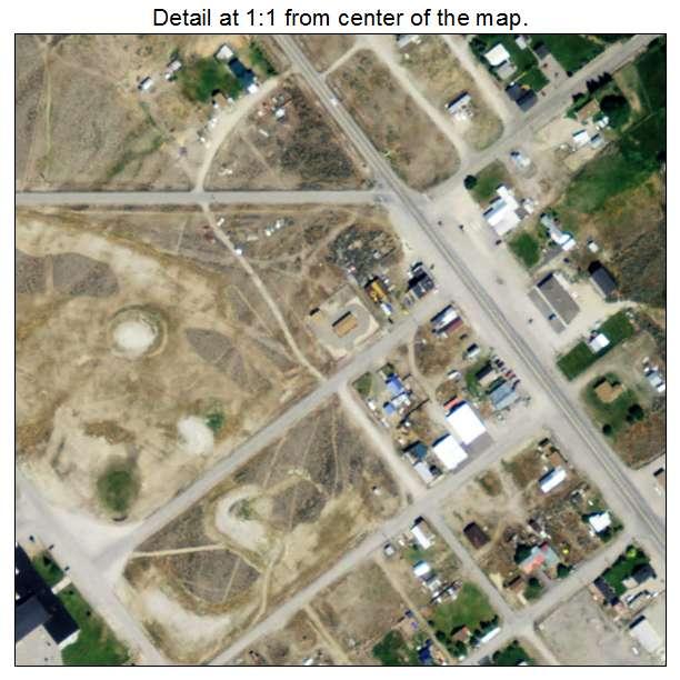 Leadore, Idaho aerial imagery detail