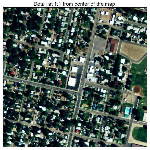Weiser, Idaho aerial imagery detail