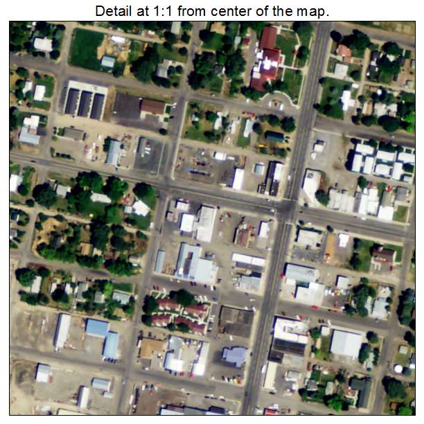 Wendell, Idaho aerial imagery detail