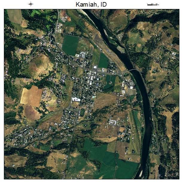 Kamiah, ID air photo map