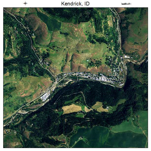 Kendrick Idaho Map.Aerial Photography Map Of Kendrick Id Idaho