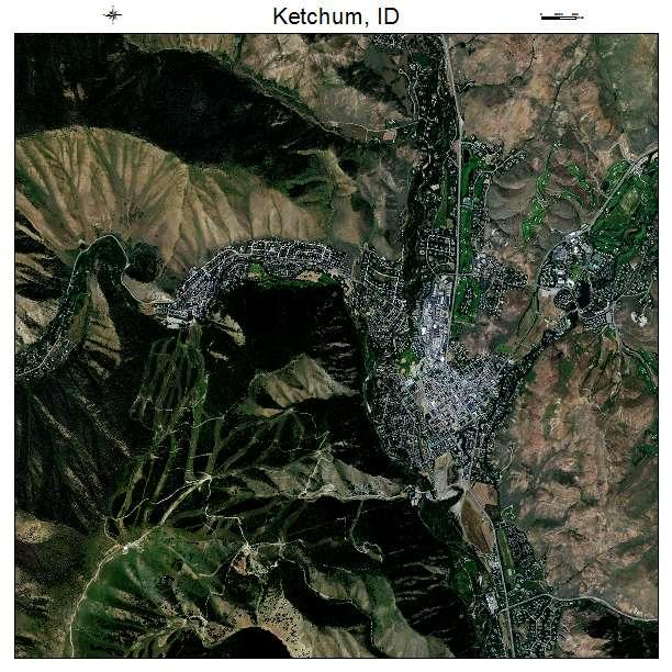 Ketchum, ID air photo map