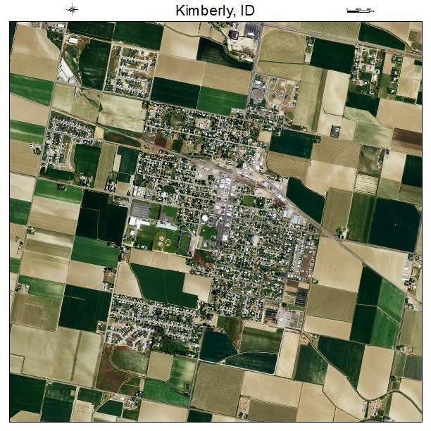 Kimberly, ID air photo map