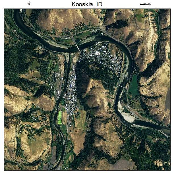 Kooskia, ID air photo map