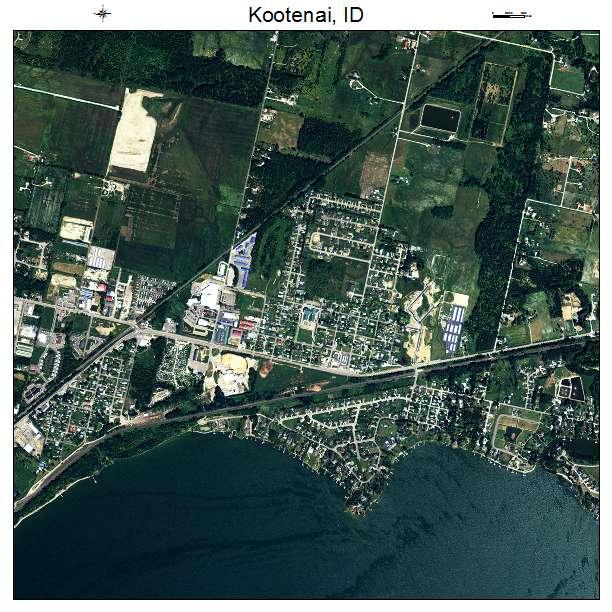 Kootenai, ID air photo map