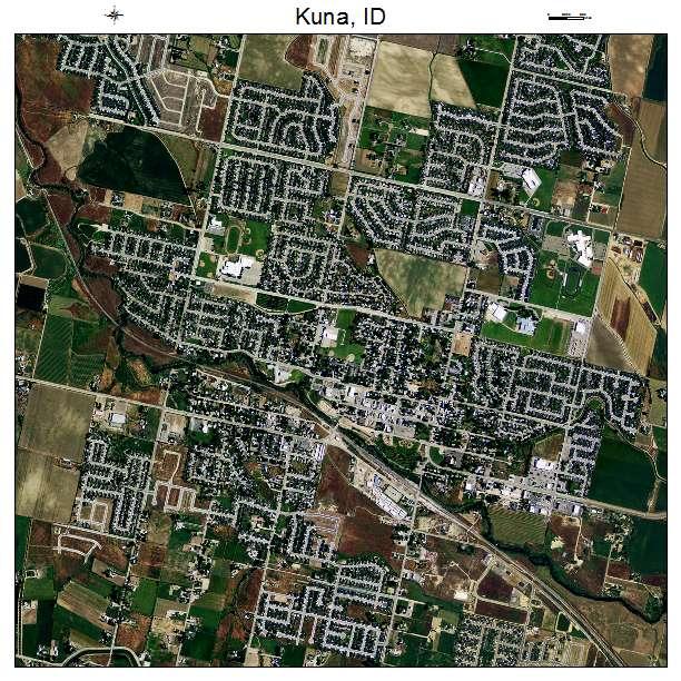 Kuna, ID air photo map