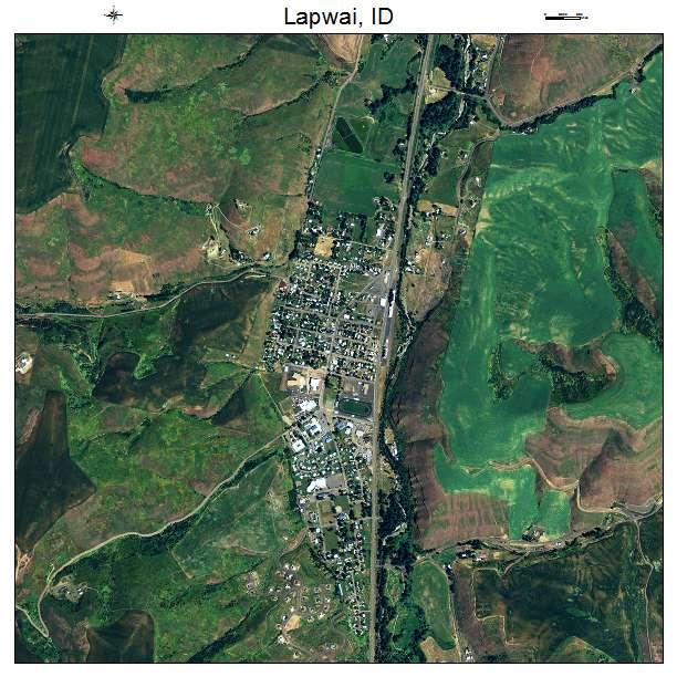 Lapwai, ID air photo map
