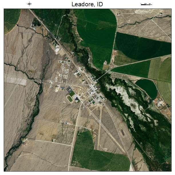Leadore, ID air photo map