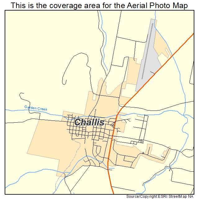 Aerial Photography Map Of Challis Id Idaho