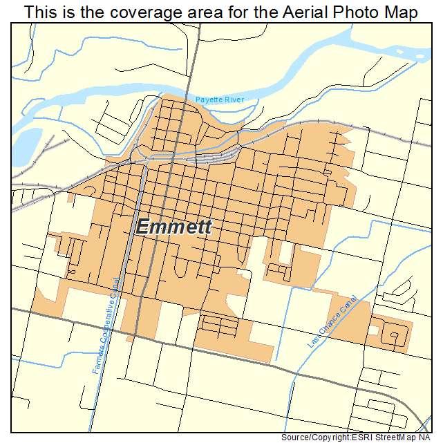 Aerial Photography Map Of Emmett ID Idaho