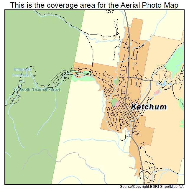 Ketchum, ID location map