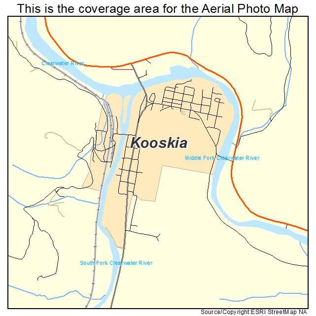 Kooskia, ID location map