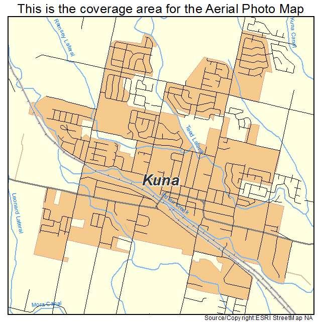Aerial Photography Map of Kuna ID Idaho