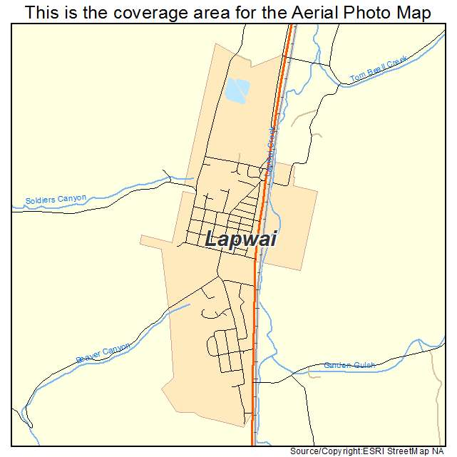 Lapwai, ID location map