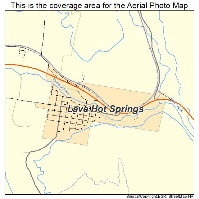 Aerial Photography Map Of Lava Hot Springs Id Idaho