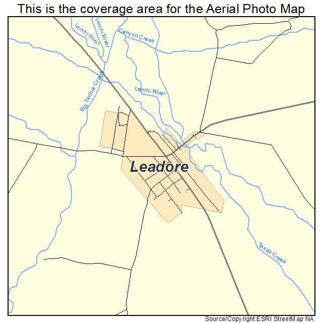 Leadore, ID location map