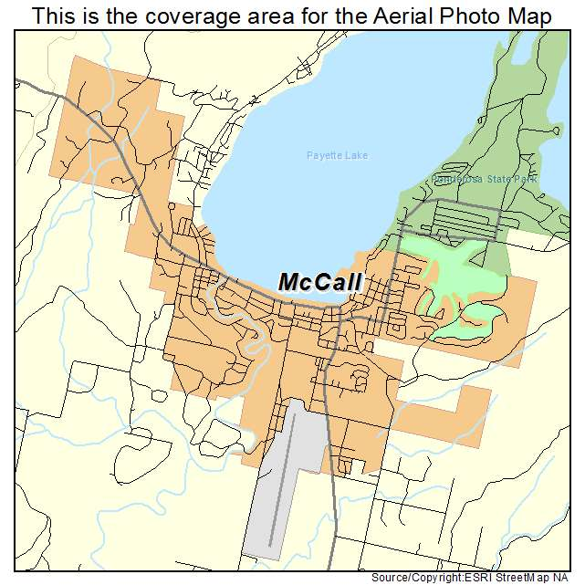 Aerial Photography Map Of Mccall Id Idaho