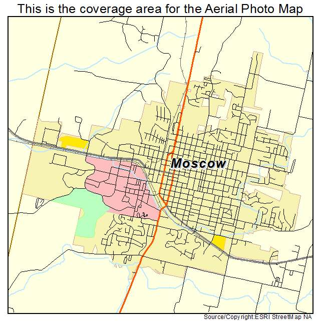 Aerial Photography Map Of Moscow ID Idaho