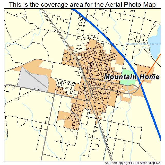 Aerial Photography Map of Mountain Home ID Idaho