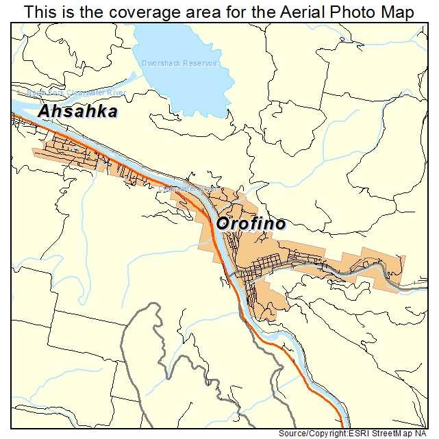 Aerial Photography Map of Orofino, ID Idaho