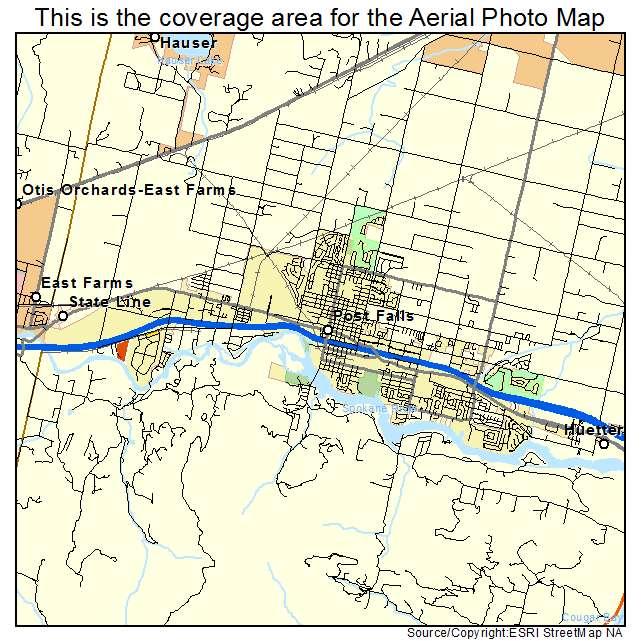 map of post falls idaho Aerial Photography Map Of Post Falls Id Idaho map of post falls idaho