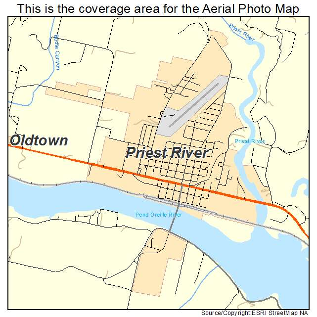 priest river idaho map Aerial Photography Map Of Priest River Id Idaho priest river idaho map