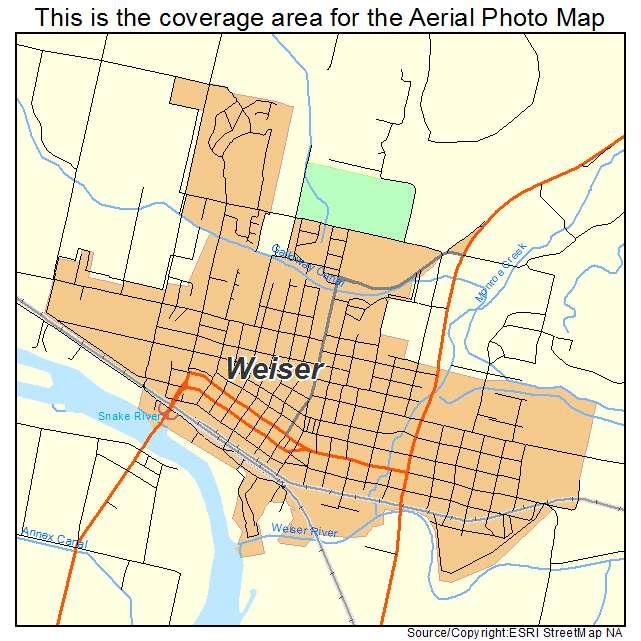Weiser, ID location map